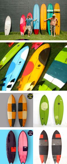 Sea Surfboards - great colour combinations for kids rooms