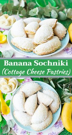 Banana sochniki (cottage cheese pastries) – this recipe is an ultimate healthy cookies version that is going to be loved by everyone, especially kids. With just a little number of ingredients, and quick preparation time. Baking Recipes, Dessert Recipes, Desserts, Apple Rose Pie, Cheese Pastry, Fish Pie, Holiday Side Dishes, Healthy Cookies, Cottage Cheese