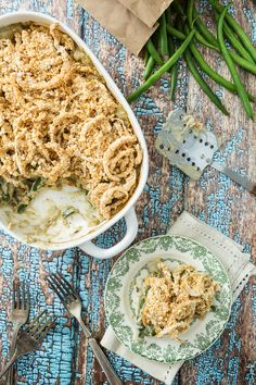Green Bean Casserole with Onion Ring-Style Topping | Keepin' It Kind