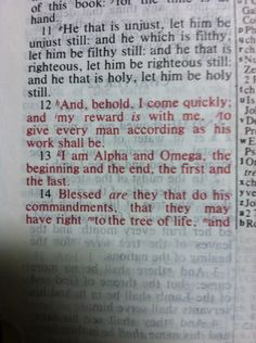 Revelation 22: 12-14