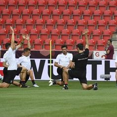 German national soccer team during training ahead of match against Czech Republic