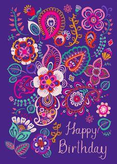 Leading Illustration & Publishing Agency based in London, New York & Marbella. Happy Birthday Art, Happy Birthday Wishes Cards, Birthday Wishes For Friend, Birthday Blessings, Happy Birthday Images, Birthday Love, Humor Birthday, Happy Birthday Hippie, Birthday Background