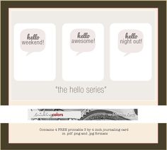 Talk Bubble | free printable journal cards, by Smitha. #ProjectLife #Scrapbooking