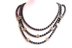 Abalone/Peacock Pearl Necklace set by WireHaven on Etsy, $200.00