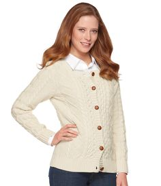 Coveside Sweater, Button-Front Cardigan