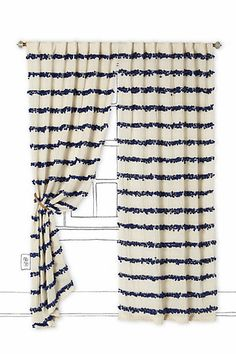 I love this and find it extremely charming.  Unfortunately Tom will find them extremely girly and expensive. Swing Stripes Curtain #anthropologie
