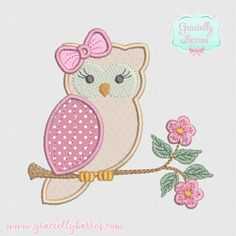 Hello Kitty, Patches, Fictional Characters, Creative Crafts, Craft Ideas, Owl Templates, Owl Applique, Applique Templates, Handmade Cushions