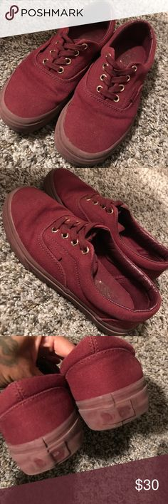 Burgundy/maroon vans Gold accents. Worn about 10 times. Still have a lot of life left in them. Vans Shoes