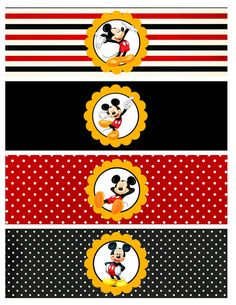 DIY Printable Mickey inspired Water Bottle by ThePartyGlamBoutique, $8.00
