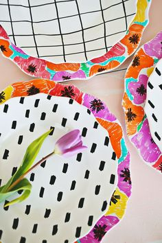Hand painted dishes with food-safe paint!