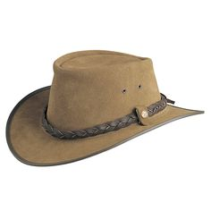 BC Hats Bac Pac Traveller Suede Australian Leather Hat d2e1f5ab11ed