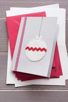 18 DIY Χριστουγεννιάτικες Κάρτες