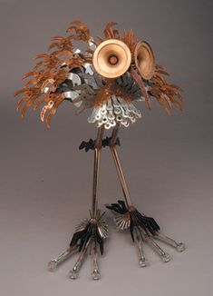 Metal sculpture artist Erika Koivunen re-purposing found metal.