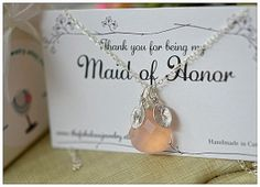 Bridesmaid  Maid of Honor  necklace on by TheFabulousJewelry, $36.99 @Sarah Martin