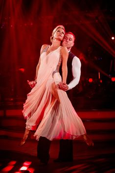 Denise Van Outen and James Jordan - Strictly Come Dancing Week 8 - Nov 2012 I like the pleated overlay of the sheer fabric