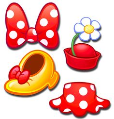 The Best Fashion Emojis You Can Collect From Disney Emoji Blitz Minnie Mouse Skirt, Minnie Mouse Theme, Minnie Bow, Mickey Ears, Minnie Mouse Clipart, Disney Babys, Disney Diy, Disney Crafts, Baby Disney