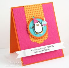 """""""Penguin Birthday Card"""" card by Nichole Heady for Papertrey Ink"""