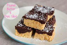 Easy Peanut Butter & Choc Slice - Clean Indulgence