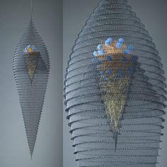 "Lanny Bergner  Constellation Construct III  Aluminum, Bronze, Brass Wire Mesh, Silcone, Frit  40"" x 10"" x 10"""