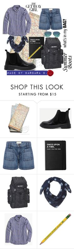 """No matter the End."" by barb8 ❤ liked on Polyvore featuring Current/Elliott, Killstar, Everest, J.Crew, Dixon Ticonderoga and Tiffany & Co."