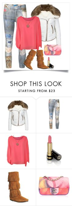 """""""Sweet Surrender"""" by hayr0se ❤ liked on Polyvore featuring Urban Bliss, Mother, WearAll, Gucci, Minnetonka, women's clothing, women, female, woman and misses"""