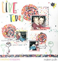 Chocoscrapaholic scrapbook layout using @americancrafts Dear Lizzy Lovely Day for @CSsketches and cut file by @thecutshoppe #scrapbooking