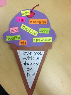 For the toddlers they could decorate the top with glitter and sequins instead of the words Sunday School Crafts, School Fun, Mothers Day Crafts, Mother Day Gifts, Spring Crafts, Holiday Crafts, After School Care, Mother's Day Activities, Dad Birthday Card