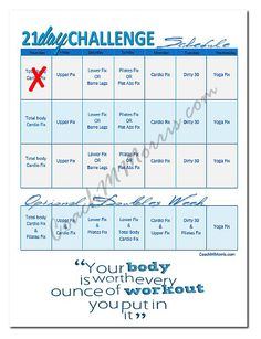 21 Day FiX Review: Calendar, Meal Plan, & Meal Tracker Download ~ To Insanity & Back