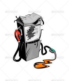 Broken Fuel Pump Station Retro