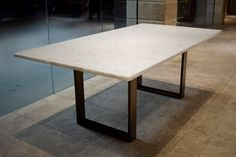 Unique dining and conference room tables made from wood, metal and special finishes customized to fit your needs. Custom Tables, Glass Office, Conference Room, Furniture Design, Marble, Dining Table, Chic, Wood, Home Decor