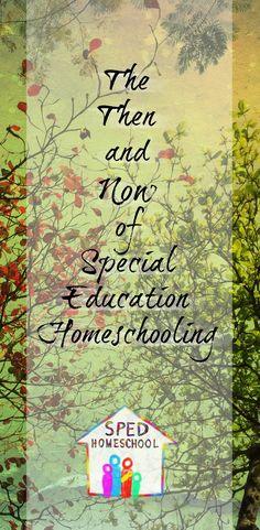 SPED Homeschool: The Then and Now of Special Education Homeschooling - How families who homeschool children with special educational needs can achieve positive results as the homeschooling landscape continues to change #change #homeschooling #specialneedshomeschool #spedhomeschool #thisishomeschool