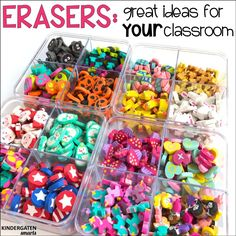 Ideas on how to use those super cute mini erasers from Target in your classroom!