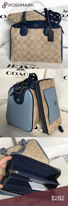 Coach Set 100% Authentic Coach Purse Crossbody and Wallet, both brand new with tag!. Coach Bags Crossbody Bags