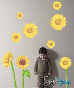 sunflower housewares | Vinyl Wall Decal Sticker Sunflower DCriswell105s