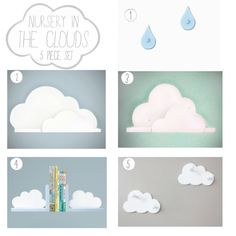 Nursery In the Clouds- 5 pc Set