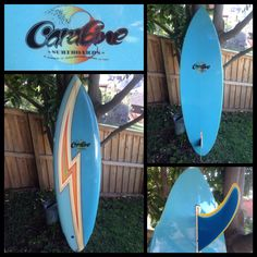 1970's Carabine surfboard - Rounded pin single flyer single fin in near mint condition. I love finding old boards in great condition, but feel more comfortable finding and riding old beaters.