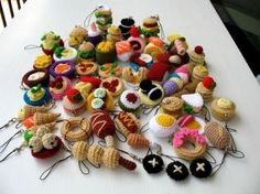 Food-inspired crochet cell phone charms byskymagenta