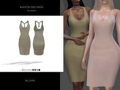 Bodycon Midi Dress by Bill Sims at TSR • Sims 4 Updates