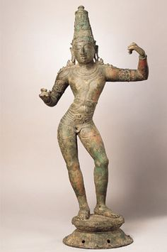 #Rama	  #India, Tamil Nadu; Chola period (880-1279), 11th century  This strikingly posed figure is Rama, one of the most popular of Vishnu's ten incarnations. Rama can be identified by the position of his hands, which indicates that he is holding a bow and arrow. He is the hero of the #Hindu epic poem the #Ramayana, which centers on the abduction of Rama's wife Sita by the demon-king Ravanna and of her rescue by Rama, his brother Lakshmana, and the chief of the monkey army, Hanuman.