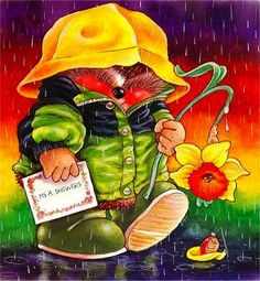 Hedgehog in the Rain Tatty Teddy, Cute Hedgehog, Hallmark Cards, Cute Little Things, Penny Black, Whimsical Art, Vintage Roses, Vintage Images, Clipart
