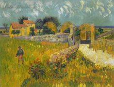 Farmhouse in Provence by Vincent Van Gogh.