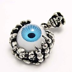 Ocelové Šperky 4u.cz - Ocelový přívěsek ve tvaru pařátů, držících modré oko. Gotické šperky, šperky pro muže, šperky pro ženy. WEBSHOP: http://www.ocelovesperky4u.cz/ocelove-privesky/privesek-chirurgicka-ocel-evil-eye-blue-235737