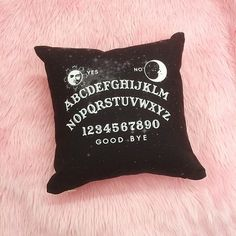 ouija board pillow aka everything I need in life