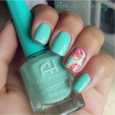 Pop you - AH + Adesivo da loja @esmaltebonito  Tá no blog ➡ fllordemaracuja.blogspot.com.br ▫ No post tem cupom de desconto pra quem quiser adquirir esses e mais produtos na loja: loja.esmaltebonito.com  #lojaesmaltebonito #nails