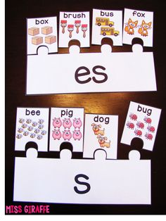 Plurals Practice and lots of other Prefixes and Suffixes Teaching Ideas for First Grade and Kindergarten