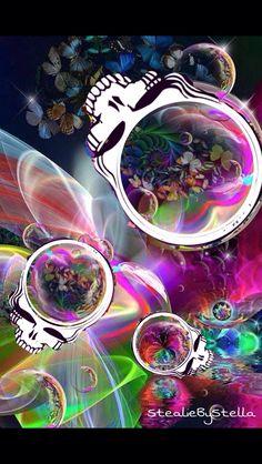 Grateful Dead Image, Grateful Dead Music, Hippie Chick, Hippie Art, Forever Grateful, Psychedelic Art, Day Of The Dead, Best Part Of Me, Dark Art