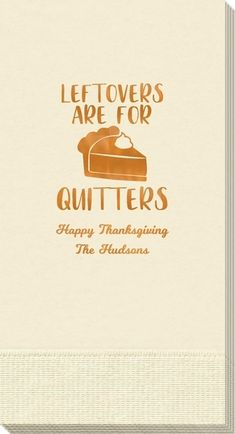 Thanksgiving Leftovers Guest Towels