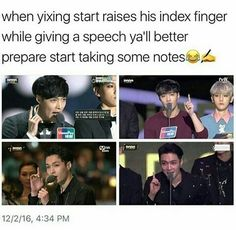 """Zhang Yixing being like """"And one more thing-"""""""