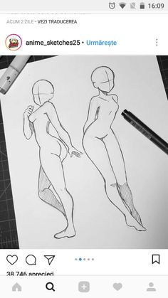 Drawing Body Poses, Body Reference Drawing, Drawing Reference Poses, Anime Drawings Sketches, Cute Drawings, Drawing Base, Figure Drawing, Body Drawing Tutorial, Sketch Poses
