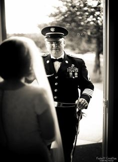 "for my pop to ""fit"" into his uniform to walk me down the aisle :] military wedding"